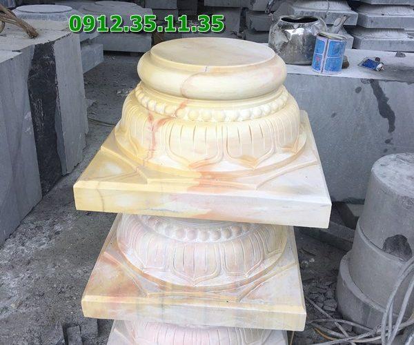 Chân tảng kê cột đá vàng