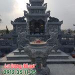 Lư hương đá khu lăng mộ LD 40